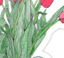 Red Tulips ~  Sticker