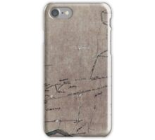 170 Map of Gauly Farm 1722 acres iPhone Case/Skin