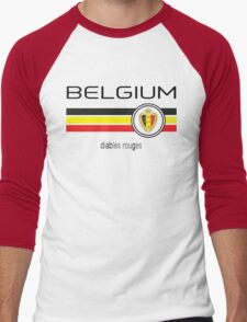 Euro 2016 Football - Belgium (Home Red) Men's Baseball ¾ T-Shirt
