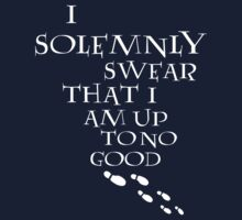 I Solemnly Swear That I Am Up To No Good (White) One Piece - Long Sleeve