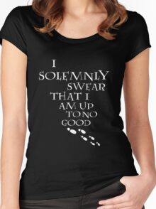 I Solemnly Swear That I Am Up To No Good (White) Women's Fitted Scoop T-Shirt