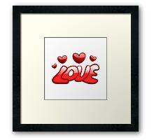 Love Hearts Framed Print