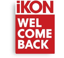 iKon welcome back RED Canvas Print