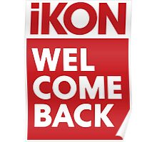 iKon welcome back RED Poster