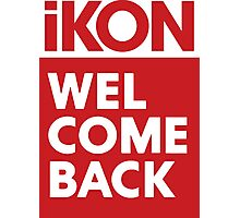 iKon welcome back RED Photographic Print