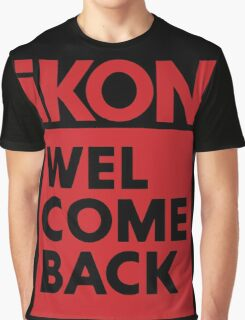 iKon welcome back RED Graphic T-Shirt