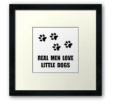Love Little Dogs Framed Print