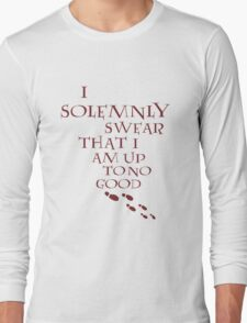 I Solemnly Swear That I Am Up To No Good (Red) Long Sleeve T-Shirt