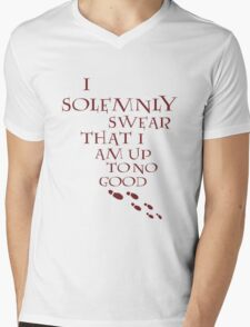 I Solemnly Swear That I Am Up To No Good (Red) Mens V-Neck T-Shirt
