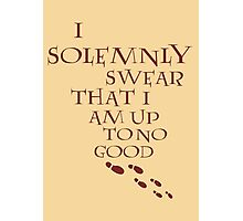 I Solemnly Swear That I Am Up To No Good (Red) Photographic Print
