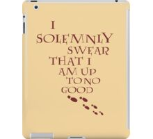 I Solemnly Swear That I Am Up To No Good (Red) iPad Case/Skin