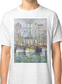 Paul Signac - Blessing Of The Tuna Fleet At Groix Classic T-Shirt