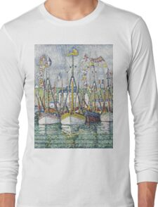Paul Signac - Blessing Of The Tuna Fleet At Groix Long Sleeve T-Shirt