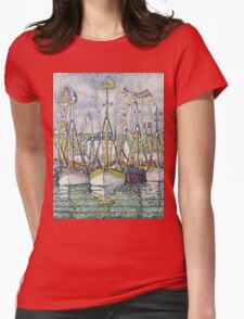 Paul Signac - Blessing Of The Tuna Fleet At Groix Womens Fitted T-Shirt