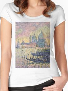 Paul Signac - Entrance To The Grand Canal Venice Women's Fitted Scoop T-Shirt