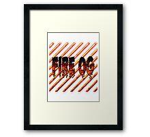 Fire og weed  Framed Print