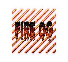 Fire og weed  Photographic Print