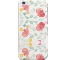 Original Watercolor Floral Painting Pattern- Tulips iPhone Case/Skin