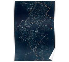 065  Preliminary map of northern Virginia embracing portions of Loudoun Fauquier Prince William and Culpeper counties Inverted Poster