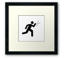 Run With Scissors Framed Print