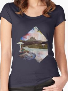 Just Take a Quiet Moment to Reflect Women's Fitted Scoop T-Shirt