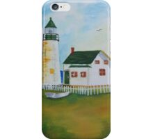 Lighthouse by the Sea iPhone Case/Skin