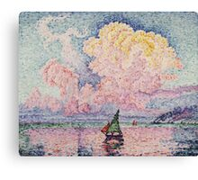 Paul Signac - Pink Clouds Antibes Canvas Print