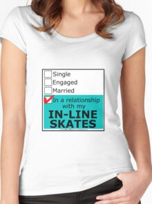 In A Relationship With My In-Line Skates Women's Fitted Scoop T-Shirt