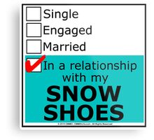 In A Relationship With My Snow Shoes Metal Print