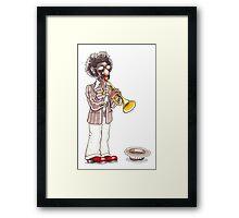 Funky Busker Trumpet Framed Print