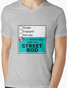 In A Relationship With My Street Rod Mens V-Neck T-Shirt