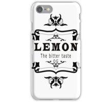 vintage style lemon  bitter taste weed  iPhone Case/Skin