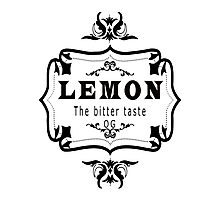 vintage style lemon  bitter taste weed  Photographic Print