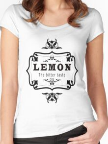 vintage style lemon  bitter taste weed  Women's Fitted Scoop T-Shirt