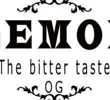 vintage style lemon  bitter taste weed  Sticker