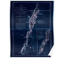 American Revolutionary War Era Maps 1750-1786 278 A survey of Lake Champlain including Lake George Crown Point and St John Inverted Poster