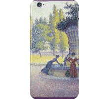 Paul Signac - The Fountain Des Lices In St. Tropez iPhone Case/Skin