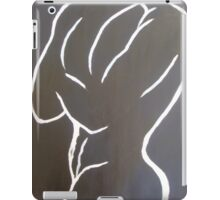 man male nude black and white shadow sexy lines iPad Case/Skin
