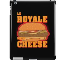 Le Royale with Cheese iPad Case/Skin