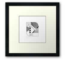 Graphic Composition Framed Print
