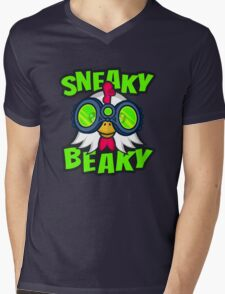 Sneaky Beaky Chicken Mens V-Neck T-Shirt