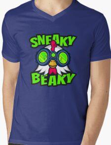 Sneaky Beaky Chicken Mens V-Neck T-Shirt