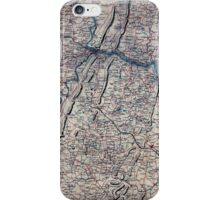 018  Map of Loudoun County and part of Clarke County Va Jefferson County and part of Berkeley County W Va and parts of Montgomery and Frederick counties Md iPhone Case/Skin