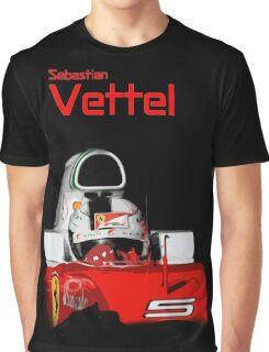 Sebatian Vettel; Ferrari 2016 Graphic T-Shirt