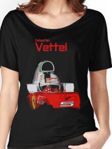 Sebatian Vettel; Ferrari 2016 Women's Relaxed Fit T-Shirt