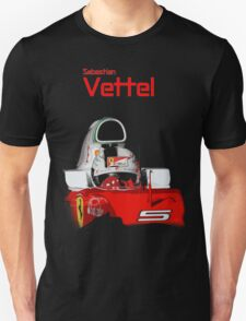 Sebatian Vettel; Ferrari 2016 Unisex T-Shirt