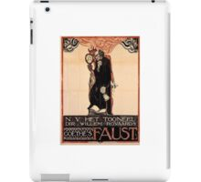 Historical Faust poster iPad Case/Skin