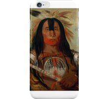 George Catlin, Buffalo Bull's Back Fat, Head Chief, Blood Tribe iPhone Case/Skin