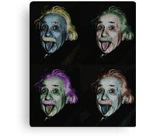 Einstein Warhol Canvas Print
