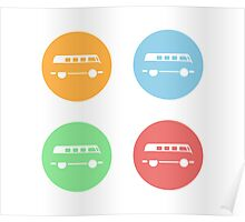 Minimal VW Van Poster